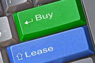 computer buttons that say buy and lease