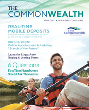 cover page of the CommonWealth Newsletter - a couple in a canoe