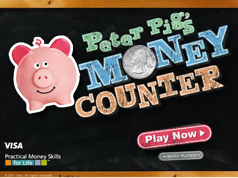 Online Game - Peter Pig's Money