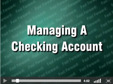 Video for Managing a Checking Account