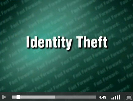 Identity Theft - title screen for video