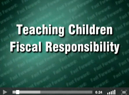 Teaching Children Fiscal Responsiblity - title screen for video