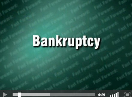 Bakruptcy - title screen for video