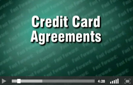 Credit Card Agreements Title Screen for Video