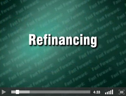 Refinancing - title screen for video